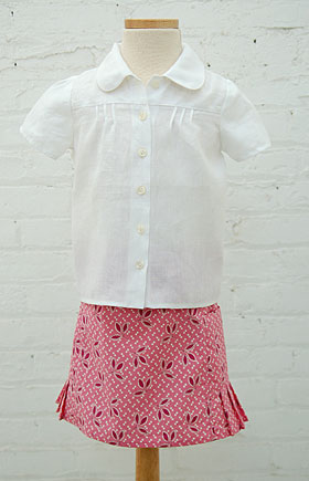 Music Class Blouse and Skirt