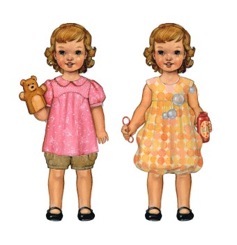 Puppet Show Tunic + Shorts Pattern and Bubble Dress Pattern