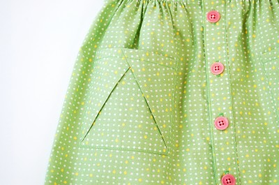 Hopscotch Skirt Sewing Pattern Pocket Detail