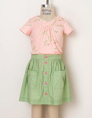 Hopscotch Skirt, Knit Top + Dress