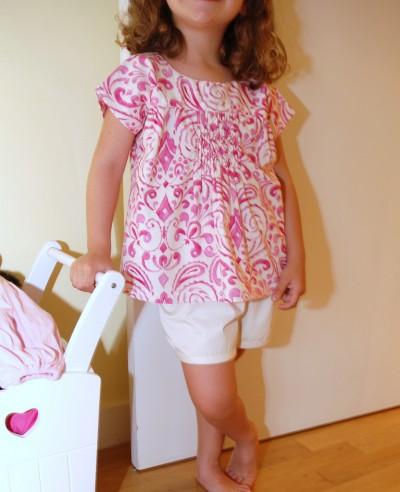 Smocked Ice Cream Blouse
