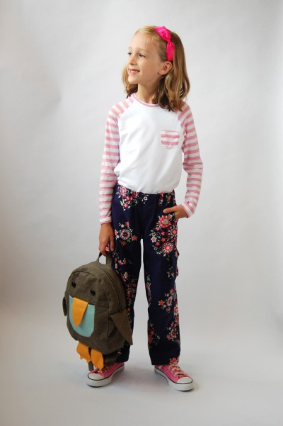 Field Trip Cargo Pants and Raglan T-Shirt for the girls