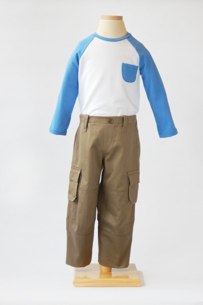 Field Trip Cargo Pants and Raglan T-Shirt Sewing Pattern