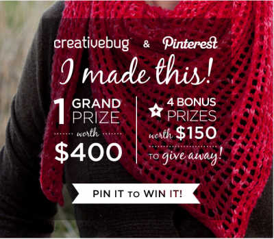 Creativebug Pinterest Contest