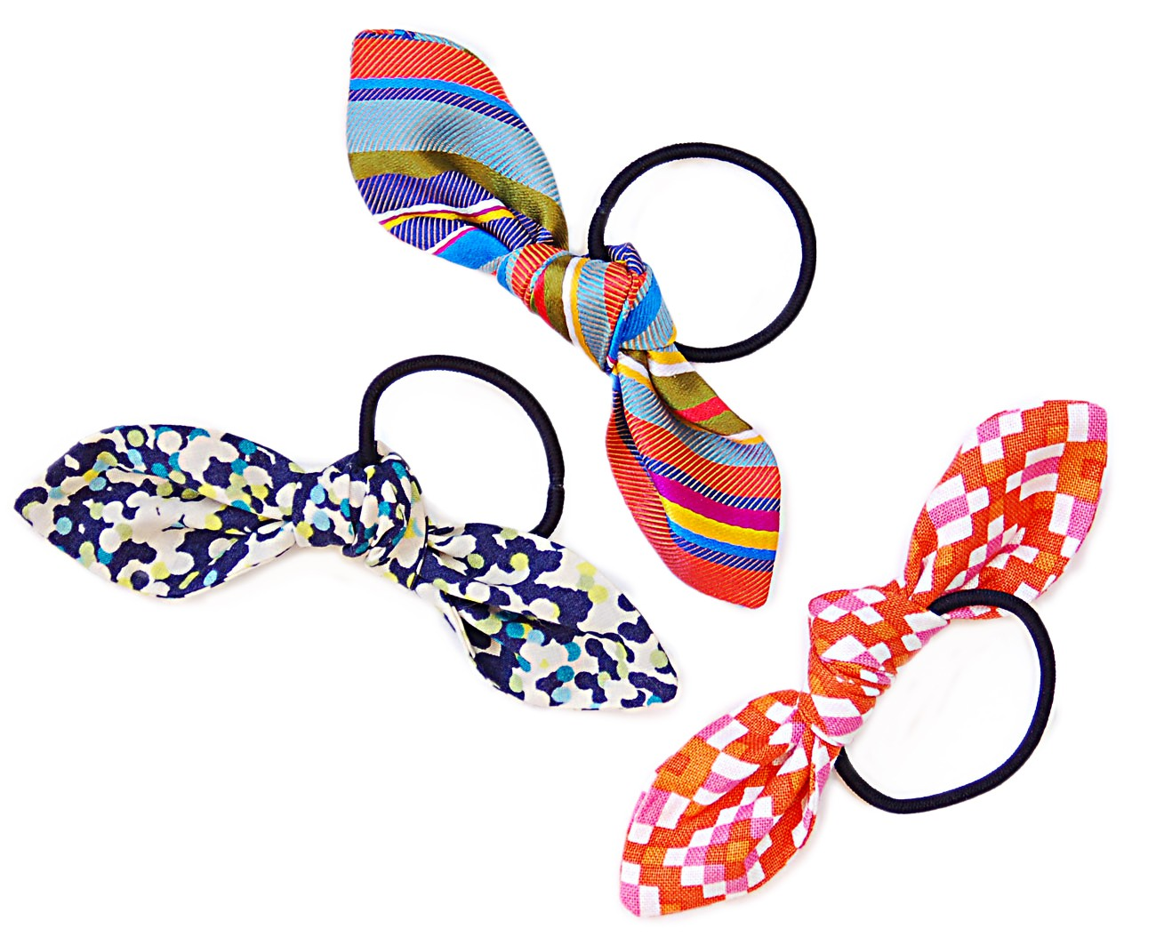 free pattern  bow hair ties