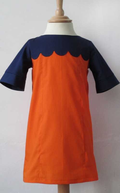 original scalloped school photo dress
