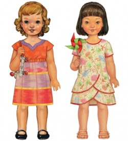 Two Spring Paper Dolls