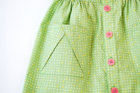 Hopscotch Skirt Pocket Detail