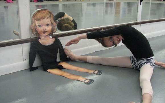 Flat S at ballet, two