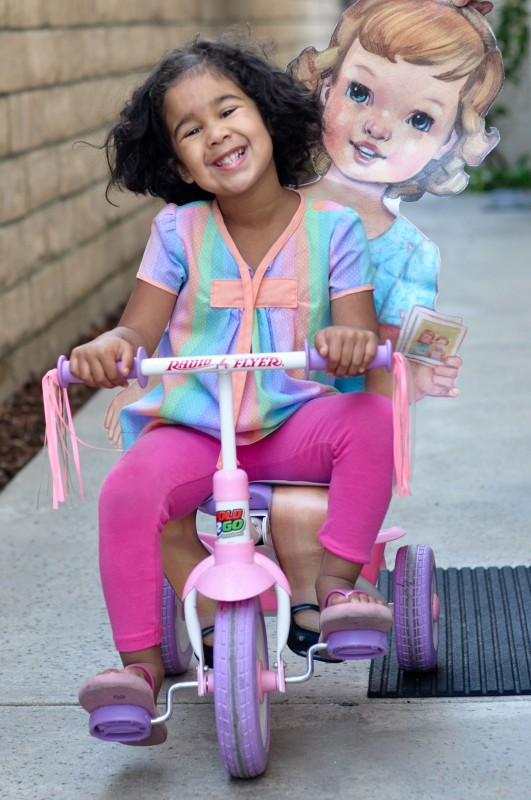 Flat S and Julia take a bike ride