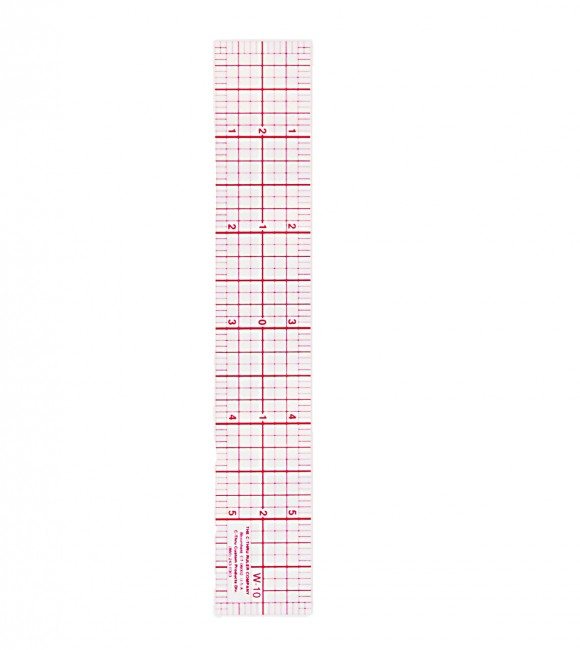 Clear plastic ruler