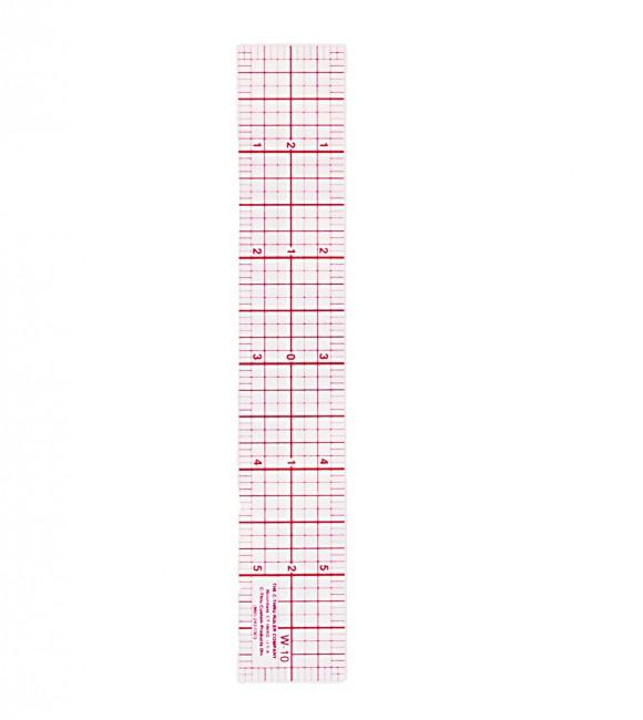 Clear plastic ruler