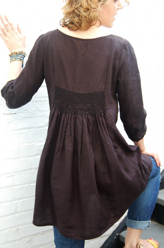Lisette Continental Blouse with Smocked Back made into tunic