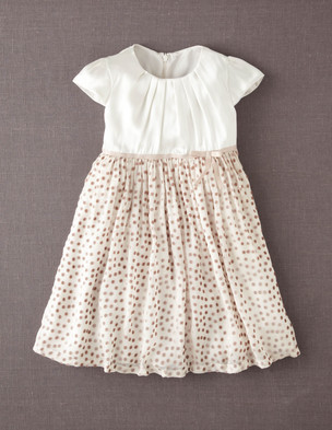 mini boden gold dot dress