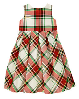 gymboree plaid dupioni dress