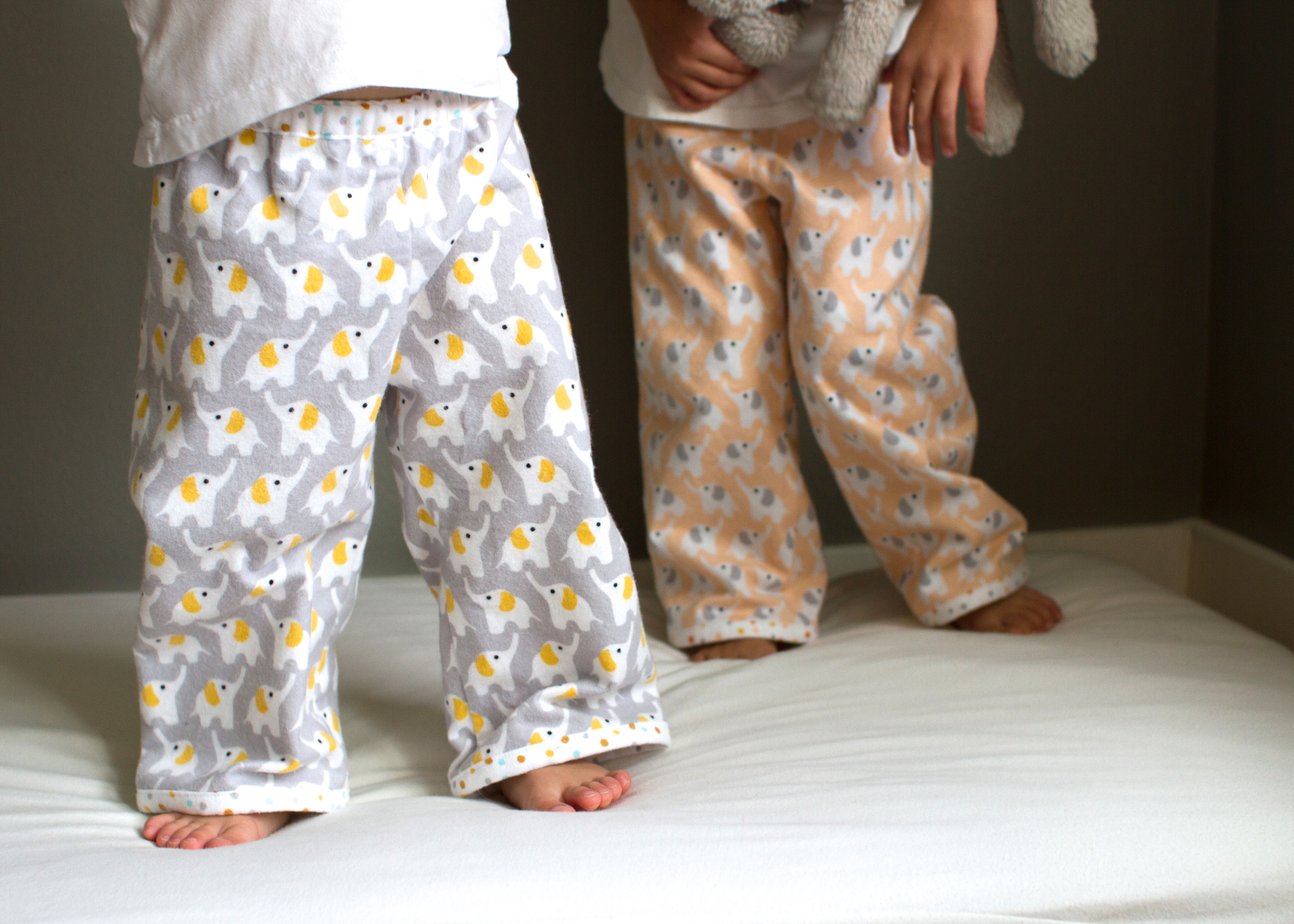 bedtime story pajamas in fanfare flannel