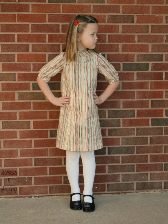 school photo in stripes