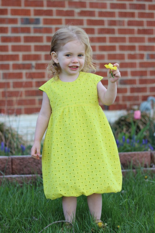 eyelet bubble dress