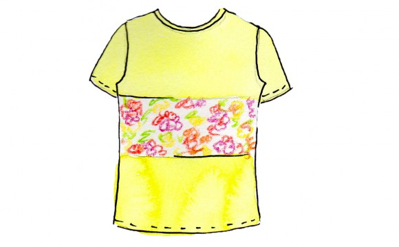 t-shirt-color-block-pattern