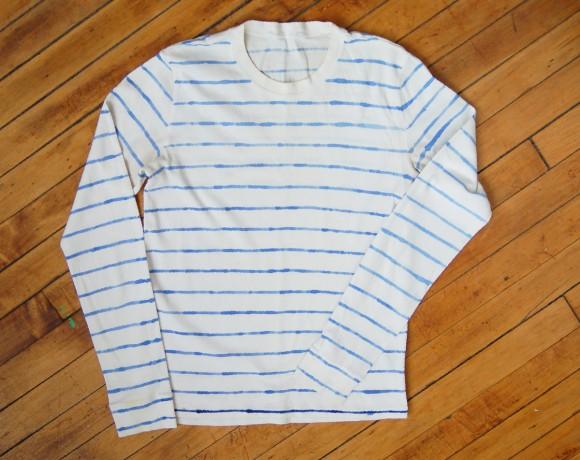watercolor-stripe-T-shirt