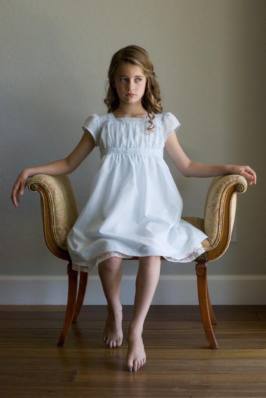 white garden party dress