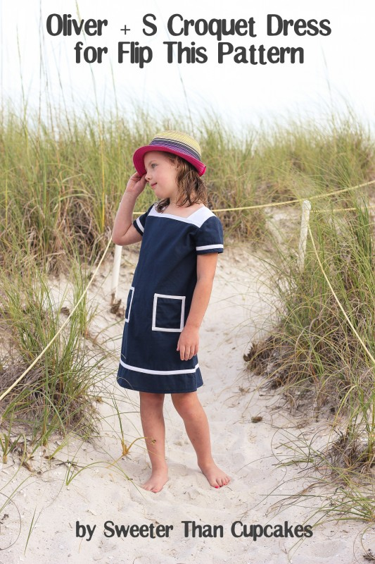 Oliver + S Croquet Dress for Flip This Pattern by Courtney of Sweeter Than Cupcakes