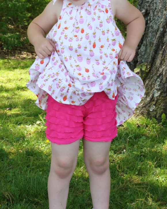 Oliver + S Sunny Day Shorts free pattern ruffles