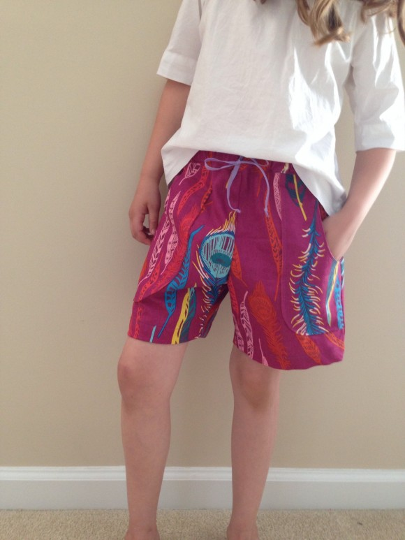 Oliver + S Sunny Day Shorts AMH fabric