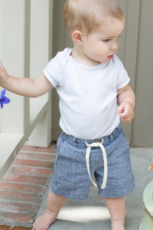 Oliver + S Sunny Day Shorts free pattern chambray