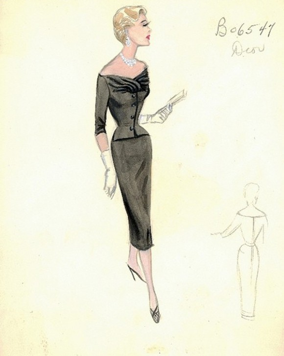 dior-sheath-dress-sketch