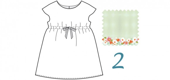 roller skate dress in fun border print