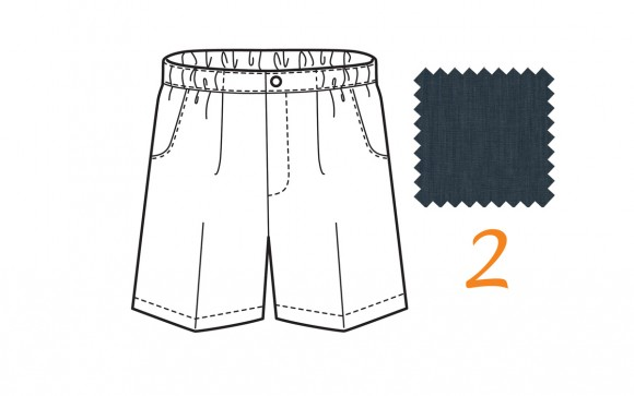 Sketchbook Shorts in Indigo Union Chambray