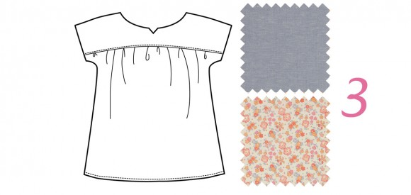 Oliver + S Ice Cream Blouse in chambray and Liberty of London fabrics
