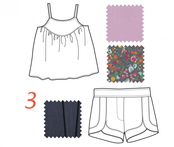 swingset tunic and class picnic shorts