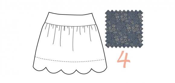 Oliver + S Badminton Skort in Liberty of London chambray