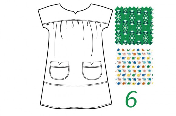 Ice Cream Dress in Green Diamonds Are Forever and Multi Snail Trail