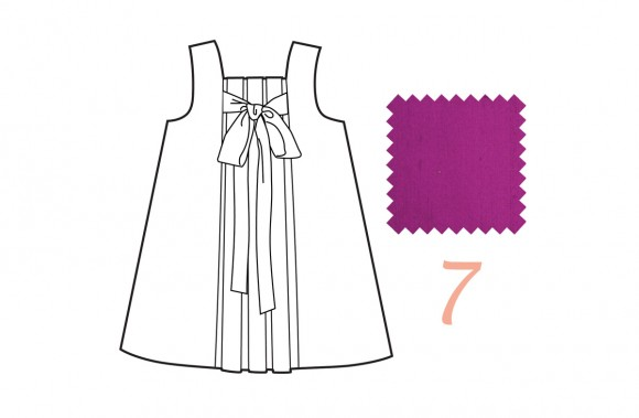 Oliver + S Birthday Party Dress in bright purple silk