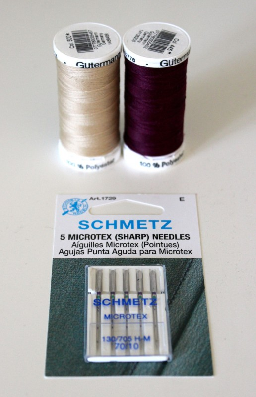 Thread and needle for perfomance fabrics