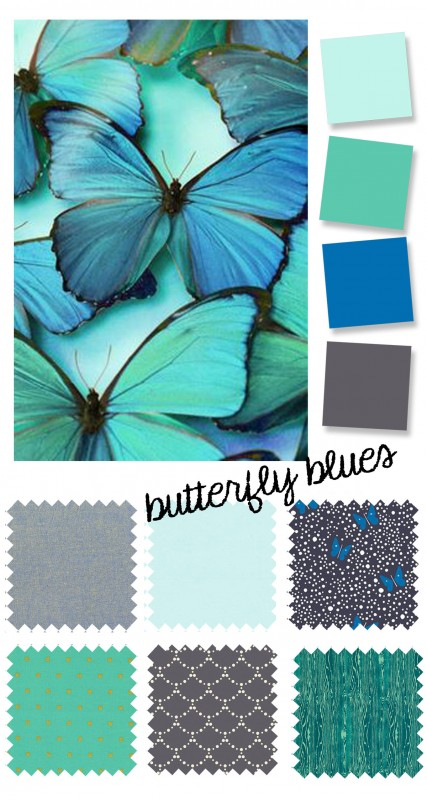 color palette: butterfly blues
