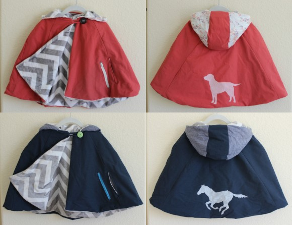 Customized Oliver + S Red Riding Hood capes