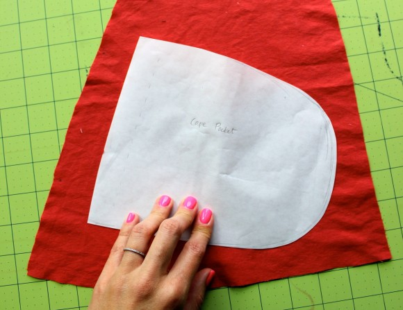 Adding pockets to the Oliver + S Red Riding Hood cape