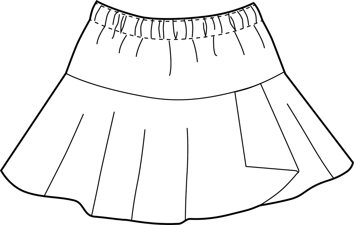 how to draw a windy skirt