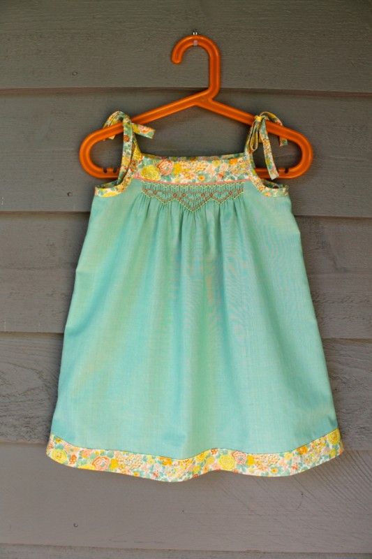 Smocked Oliver + S Popover Sundress