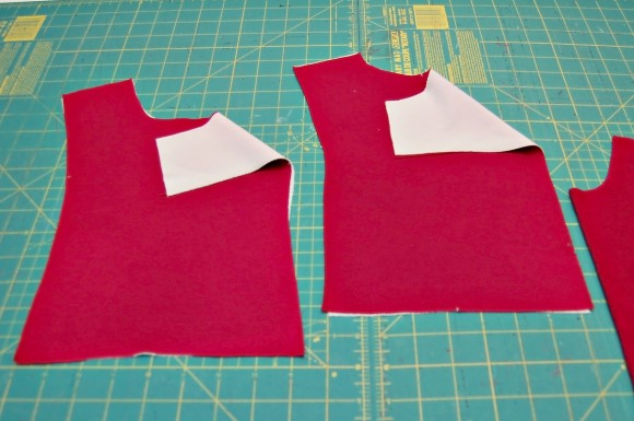 Adding interfacing to the front and back yokes of the Oliver + S Hide-and-Seek Tunic