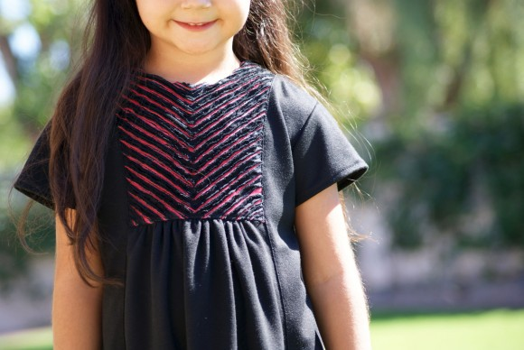Oliver + S Hide-and-Seek Dress with faux chenille yoke