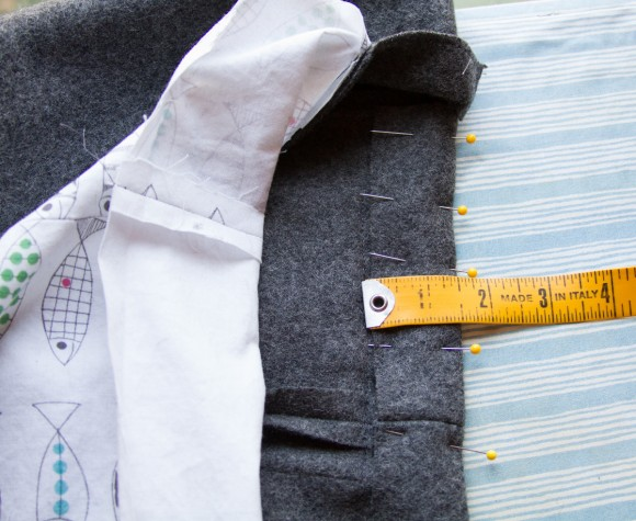 Hemming the School Days Jacket