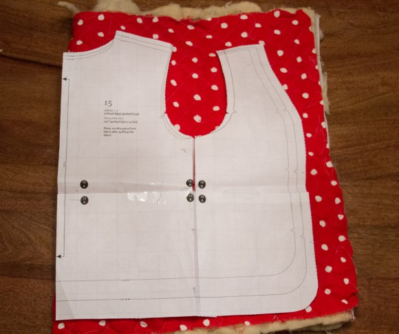 Cutting out the insulated vest