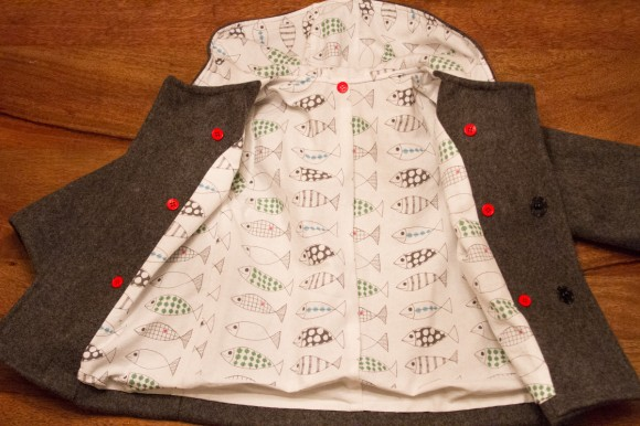 Attach buttons for insulated vest