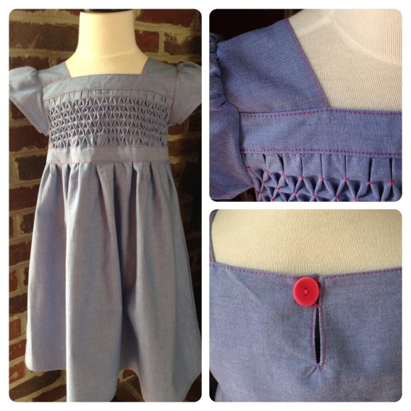 Oliver + S Garden Party Dress with honeycomb smocking