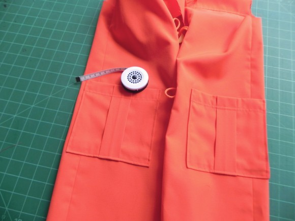 Edgestitch pockets on School Days Jacket